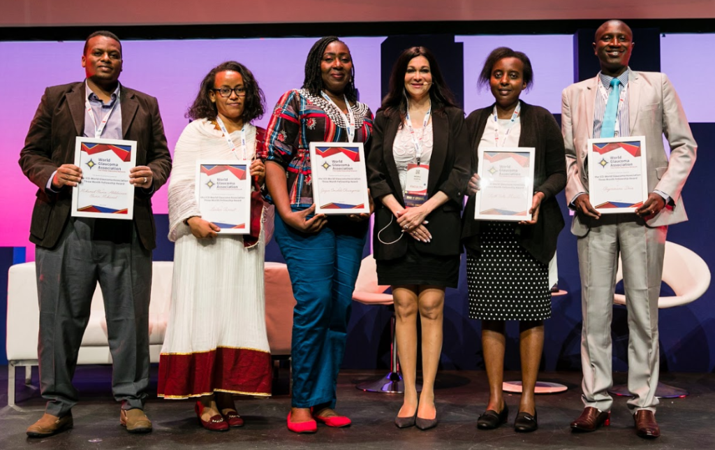 The 2019 Fellows at the Award Ceremony in Melbourne, during the WGC-2019 Opening Ceremony